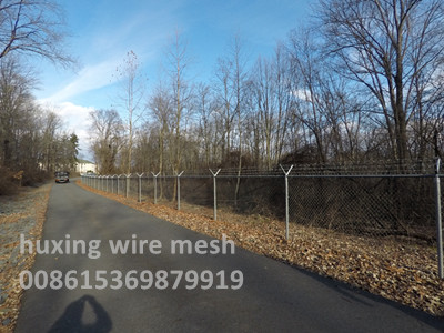 Chain Link Mesh Perimeter Security Road Fence
