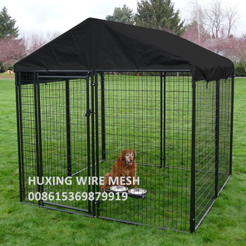Large Outdoor Safety Metal Dog Run Wire Mesh Kennel with Top Roof