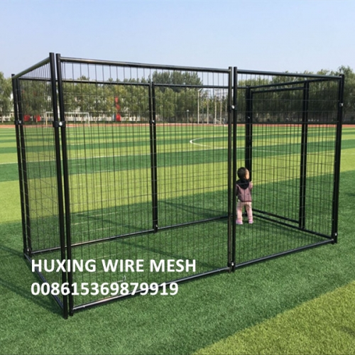 10FT x 5FT x 6FT Black Coated Portable Modular Weld Wire Mesh Dog Run Kennels