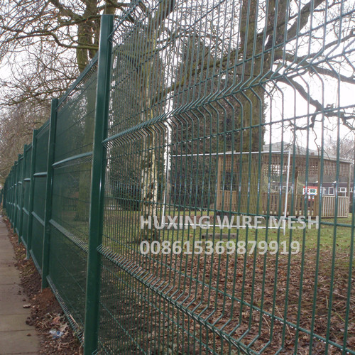 PVC Powder Coated Curvy Welded Wire Garden Fence Steel Peach Post