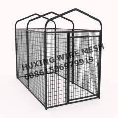 Dog Play Pen House Metal Welded Pet Crate Kennel Cage with Waterproof Cover