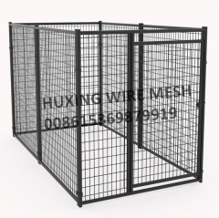 Black Welded Wire Pet Kennel Modular Dog Kennel Box Kit