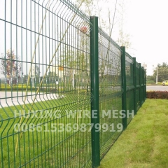Galvanized and PVC Painting Coated Triangle Bending Boundary Wall Security Metal Wire Mesh Fence